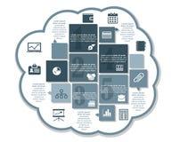 Projeto de negócio de Infographics Fotografia de Stock Royalty Free
