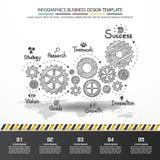 Projeto de negócio do vetor de Infographics Foto de Stock