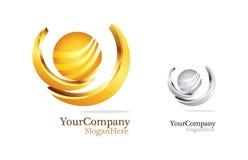 Projeto de negócio luxuoso do logotipo Imagens de Stock Royalty Free