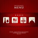 Projeto de papel do menu do restaurante do vetor Imagem de Stock