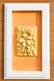 Projeto de pedra da arte do ofício do Plumeria Fotos de Stock Royalty Free