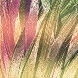 Projeto de pintura criativo Artes dos cursos da escova Campo de brilho com opinião das colheitas apontado na lona ilustração do vetor