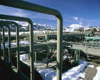Projeto de potência Geothermal fotografia de stock