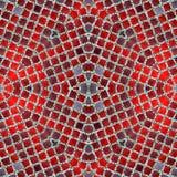Projeto de prata vermelho luxuoso do fundo da telha do teste padrão de mosaico Fotografia de Stock Royalty Free