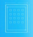Projeto de projeto da tabuleta do plano Fotografia de Stock