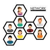 Projeto de rede Imagem de Stock