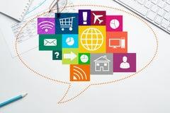 Projeto de relação para o móbil e a aplicação web Imagens de Stock Royalty Free