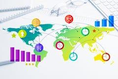 Projeto de relação para o móbil e a aplicação web Imagem de Stock Royalty Free