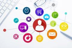 Projeto de relação para o móbil e a aplicação web Fotos de Stock Royalty Free