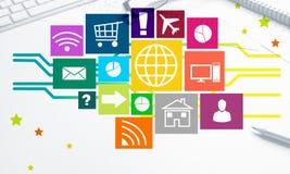 Projeto de relação para o móbil e a aplicação web Imagens de Stock