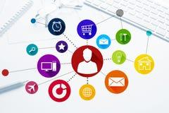 Projeto de relação para o móbil e a aplicação web Imagem de Stock