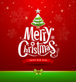 Projeto de rotulação do Feliz Natal ilustração royalty free