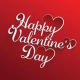 Projeto de rotulação feliz do vetor do desenho da mão do dia de Valentim - O arquivo do vetor foto de stock