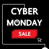 Projeto de segunda-feira do Cyber Foto de Stock