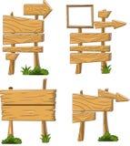 Projeto de sinais de madeira Fotografia de Stock