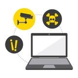 Projeto de sistema da segurança Imagem de Stock Royalty Free