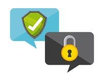 Projeto de sistema da segurança Imagens de Stock Royalty Free