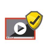 Projeto de sistema da segurança Imagens de Stock