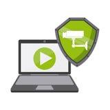 Projeto de sistema da segurança Imagem de Stock
