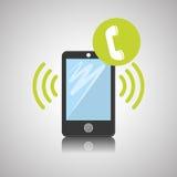 Projeto de Smartphone, contato e conceito da tecnologia, vetor editável Foto de Stock Royalty Free