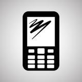 Projeto de Smartphone, contato e conceito da tecnologia, vetor editável Imagens de Stock Royalty Free