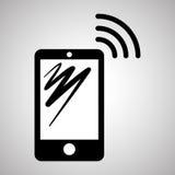 Projeto de Smartphone, contato e conceito da tecnologia, vetor editável Imagens de Stock