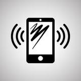 Projeto de Smartphone, contato e conceito da tecnologia, vetor editável Imagem de Stock Royalty Free