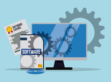 Projeto de software Imagens de Stock