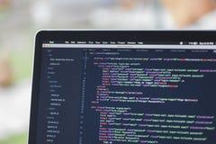 Projeto de software usando o Javascript Fotografia de Stock