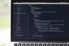 Projeto de software usando o Javascript Foto de Stock