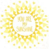 Projeto de Sun Fotografia de Stock