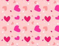 Projeto de /Textile do teste padrão dos corações Fotografia de Stock
