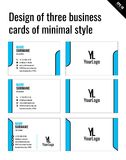 Projeto de três cartões do estilo mínimo Imagens de Stock