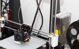 projeto de trabalho do yelement do mecanismo da impressora 3d Foto de Stock