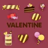 Projeto de vale-oferta do dia de Valentim material dos Valentim Imagens de Stock Royalty Free