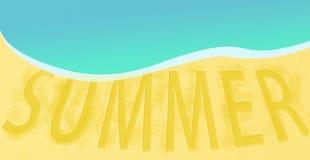 Projeto de viagem da bandeira do fundo do recurso da praia do mar do verão Fotos de Stock Royalty Free