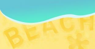 Projeto de viagem da bandeira do fundo do recurso da praia do mar do verão Fotografia de Stock Royalty Free