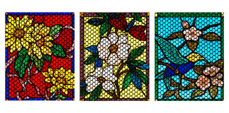 Projeto de vidro colorido Fotografia de Stock