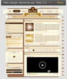 Projeto de Web 1 retro ajustado Foto de Stock
