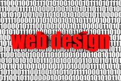 Projeto de Web ilustração stock