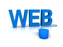 Projeto de Web com rato Imagem de Stock Royalty Free
