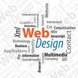Projeto de Web do Typography Imagens de Stock Royalty Free