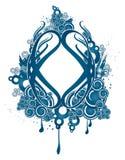 Projeto decorativo azul Imagens de Stock Royalty Free