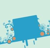 Projeto decorativo azul do molde Imagem de Stock Royalty Free