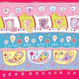Projeto decorativo de Paisley com cores brilhantes Fotos de Stock Royalty Free