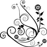 Projeto decorativo preto ilustração stock