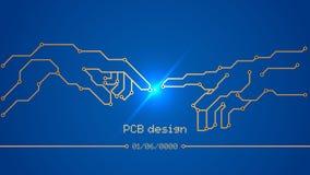Projeto, desenvolvimento de placas de circuito impresso ilustração stock