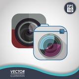 Projeto do ícone da câmera Imagem de Stock