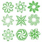 Projeto do ícone da flor ilustração do vetor