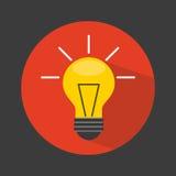 Projeto do ícone da luz de bulbo Imagem de Stock